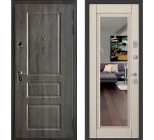 Входная дверь Бульдорс STANDART 90 дуб графит/ларче бьянко зеркало