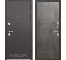 Входная дверь Бульдорс STANDART 90 бетон серый