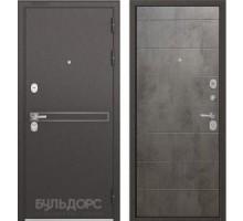 Входная дверь Бульдорс STANDART 90 D-4 бетон серый