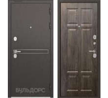 Входная дверь Бульдорс STANDART 90 D-4 дуб шале серебро