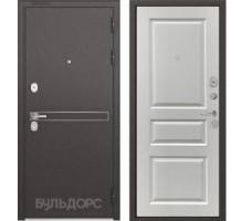 Входная дверь Бульдорс STANDART 90 D-4 ларче белый