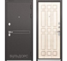 Входная дверь Бульдорс STANDART 90 D-4 ларче бьянко