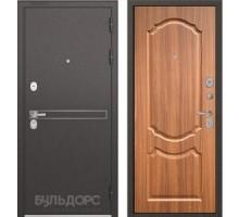 Входная дверь Бульдорс STANDART 90 D-4 орех лесной