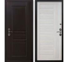 Входная дверь Гардекс CISA венге/ D-10 самшит белый