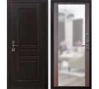 Входная дверь Гардекс CISA венге/зеркало филадельфия коньяк