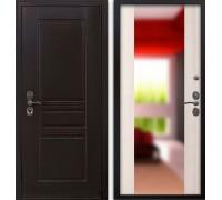 Входная дверь Гардекс CISA венге/ большое зеркало сандал белый