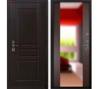 Входная дверь Гардекс CISA венге/ большое зеркало венге