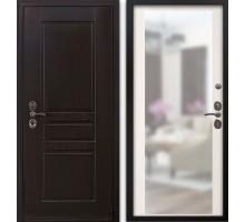 Входная дверь Гардекс CISA венге/зеркало сандал белый