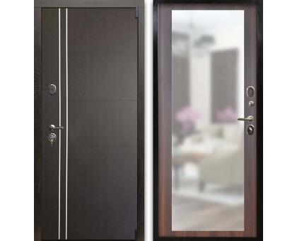 Входная дверь Гардекс С D13/D-1 зеркало венге - коньяк калифорния