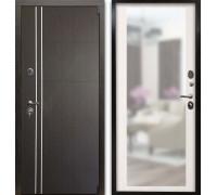 Входная дверь Гардекс С  D13/D-1 зеркало венге - сандал белый