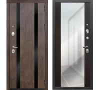 Входная дверь Zetta Премьер 100 К2 ВЕГА венге - венге с зеркалом