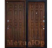 Входная дверь МеталЮр М3, темный орех