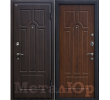 Входная дверь МеталЮр М5, темный орех