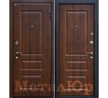 Входная дверь МеталЮр М11, темный орех