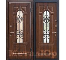 Входная дверь МеталЮр М30, темный орех