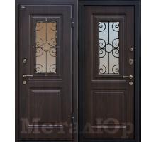 Входная дверь МеталЮр М32, венге