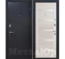 Входная дверь МеталЮр М41 эш вайт мелинга, белый лак