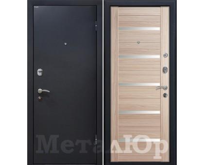 Входная дверь МеталЮр М41 капучино мелинга, белый лак
