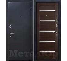 Входная дверь МеталЮр М41 венге мелинга, белый лак