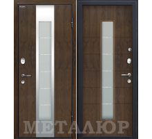 Входная дверь МеталЮр М34 Темный орех