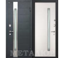 Входная дверь МеталЮр М36 белый малибу