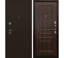 Входная металлическая дверь Троя 3К орех бренди
