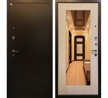 Входная металлическая дверь Милан экодуб с зеркалом