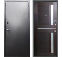 Входная дверь Rex Титан СБ-18 'Серебро антик / Орех темный рифленый'