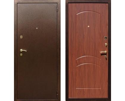 Входная дверь Rex 1А Латунь, Цвет 'Орех тисненый'