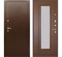 Входная дверь Rex 1А с зеркалом, Цвет 'Орех тисненый'
