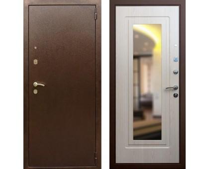 Входная дверь Rex 1А с зеркалом, Цвет 'Беленый дуб'