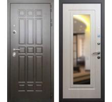 Входная дверь Rex 8 с зеркалом, Цвет 'Беленый дуб'