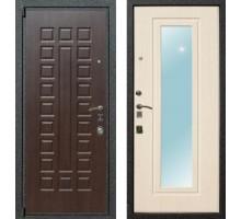 Входная дверь Rex 4A с зеркалом, Цвет 'Беленый дуб'