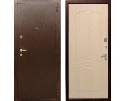 Входная дверь Rex 1А Хром, Цвет 'Беленый дуб'