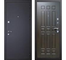 Входная дверь Сенатор Оптима 3К Черный шелк / Венге