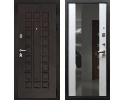 Входная дверь Престиж 3К с зеркалом СБ-16 'Лиственница бежевая'