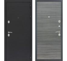 Входная дверь Сенатор Практик 3К 'Черный муар / Сандал серый поперечный'