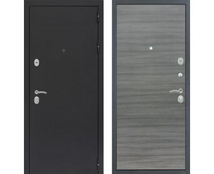 Входная дверь Практик 3К 'Черный муар / Сандал серый поперечный'