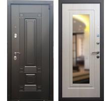 Входная дверь Сенатор Мадрид с зеркалом 'Беленый дуб'