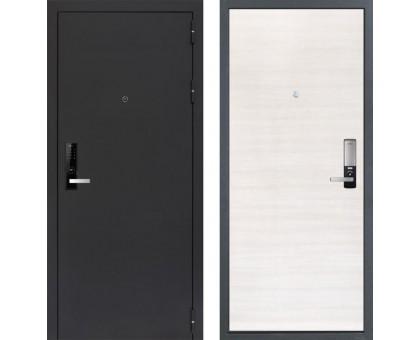 Входная дверь Практик 3К Electro 5050 'Черный муар / Акация светлая поперечная'