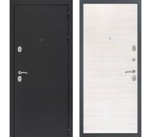 Входная дверь Сенатор Практик 3К 'Черный муар / Акация светлая поперечная'
