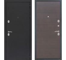 Входная дверь Сенатор Практик 3К 'Черный муар / Эковенге поперечный'