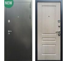 Входная дверь Сенатор Практик 3К Антик серебро / ФЛ-243, Цвет 'Беленый дуб'