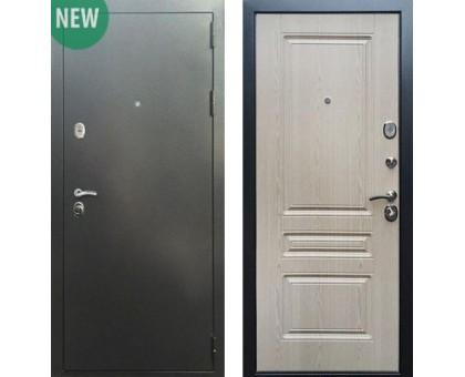 Входная дверь Практик 3К Антик серебро / ФЛ-243, Цвет 'Беленый дуб'