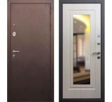 Входная дверь Сенатор Практик 3К с зеркалом, Цвет 'Беленый дуб'