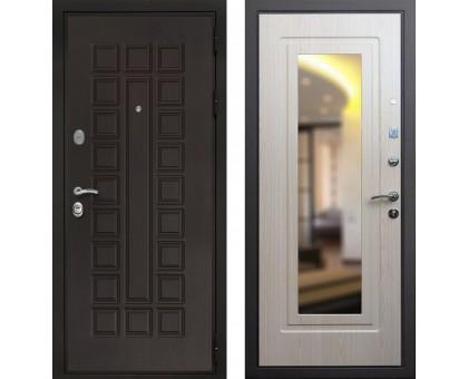 Входная дверь Престиж 3К с зеркалом, Цвет 'Беленый дуб'