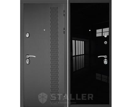 Входная дверь Сталлер Лика, черный люкс